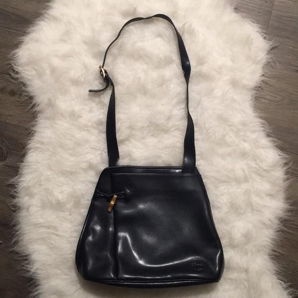 Longchamp Bags   Authentic Leather Crossbody Bag Black   Poshmark ea4aa74a25